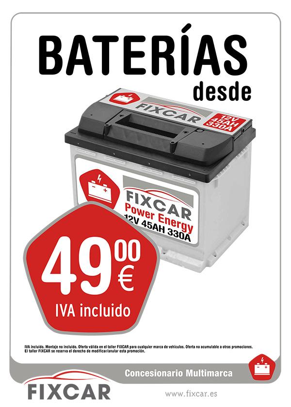 Oferta de baterias en red de concesionarios multimarca FIXCAR